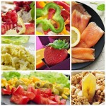 Collage repas différents