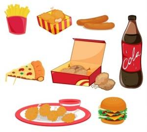 Nourriture grasse et sucrée