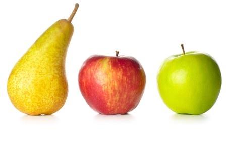 Pommes et poire